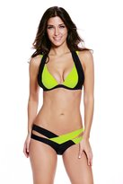 SunShine Day SunShine Black Color Patchwork Push up Swimwear