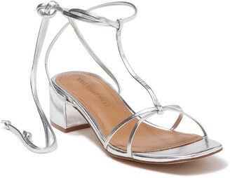 Who What Wear Genesis Metallic Heeled Sandal