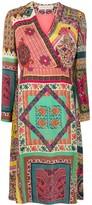 Etro silk patchwork print midi dress