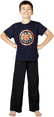Intimo Boys' Sleep Bottoms PR825 - Superman Vintage Logo Pajama Set - Boys