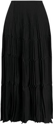 Christian Dior 1990s Pre-Owned Pleated Midi Skirt
