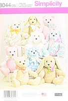 "Simplicity 8044OS ""2-Pattern Stuffed Animals"" Sewing Pattern, Paper"
