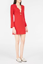 A.L.C. Eve Scalloped-Neck Mini-Dress