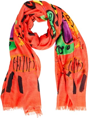 Crafted Society Bruna Scarf - Selden Art Cashmere - Coral