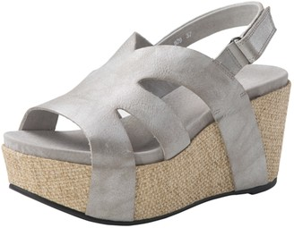 Antelope Leather Cork Platform Wedge Sandal