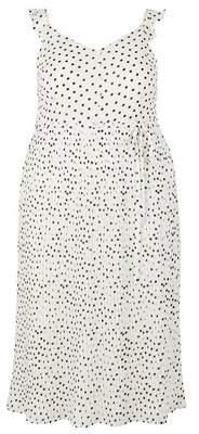Dorothy Perkins Womens **Dp Curve Spot Print Pleat Midi Dress