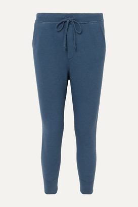 Nili Lotan Nolan Distressed Cotton-jersey Track Pants - Blue