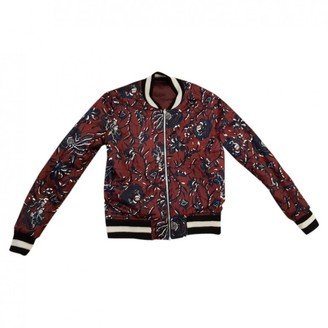 Etoile Isabel Marant Burgundy Cotton Leather Jacket for Women