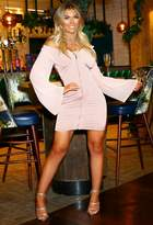 Pink Boutique Shelby Pink Satin Zip Front Bodycon Mini Dress