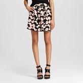 Women's Printed Scuba Flare Mini Skirt Blush/Pink - Necessary Objects