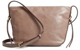 Hobo Muse Calfskin Leather Crossbody Bag - Grey