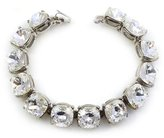 Kenneth Jay Lane Silver & Crystal Headlight Bracelet