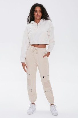 Forever 21 Ladder Cutout Ankle Joggers