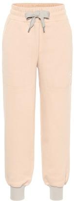 adidas by Stella McCartney Logo cotton-blend jersey trackpants