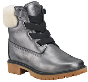 Timberland Jayne Waterproof Genuine Shearling Trim Bootie