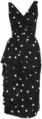 Dolce & Gabbana Sleeveless Polka Dot Ruffle Dress