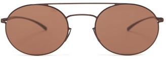 Mykita Double Arrow Aviator Stainless-steel Sunglasses - Brown