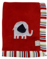 Trend Lab Elephant Parade Framed Receiving Blanket with Embroidery by
