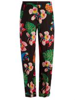 Valentino Tropical Dream-print silk crepe de Chine trousers
