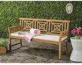 Safavieh Del Outdoor Teak Brown/ Beige Mar 3 Seat Bench