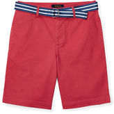 Ralph Lauren 8-20 Belted Stretch Cotton Short
