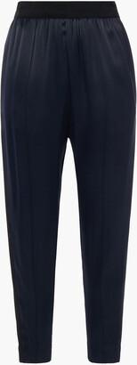 By Malene Birger Grosgrain-trimmed Satin Tapered Pants
