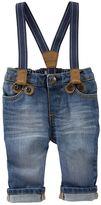 Osh Kosh Baby Boy Suspender Jeans