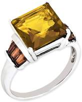 ICE CARATS 925 Sterling Silver Whiskey Quartz Tabber Red Garnet Band Ring Size 5.00 Gemstone