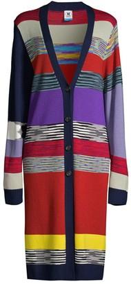 M Missoni Multicolor Longline Cardigan