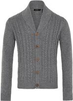 Oxford Ryder Knit Cardigan Melange Grey X