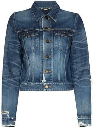 Saint Laurent cropped denim jacket