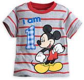 Disney Mickey Mouse ''I Am 1'' Birthday Tee for Boys - Gray