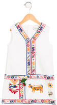 Gucci Girls' Embroidered Shift Dress
