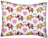 SheetWorld Percale Twin Pillow Case - Elephant Love - Made In USA