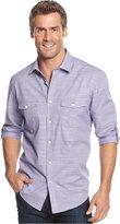 Alfani Men's Big and Tall Long-Sleeve Warren Shirt