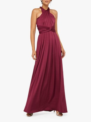 Monsoon Tallulah Multi Tie Bridesmaid Dress, Burgundy