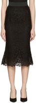 Dolce & Gabbana Black Macrame Pencil Skirt