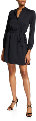 Joie Leonore V-Neck Tie-Waist Short Dress