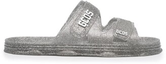 GCDS Logo Plaque Glittery Slides