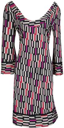 Diane von Furstenberg Multicolor Printed Silk Jersey Aggie Shift Dress M