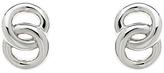 Monet Double Ring Stud Earrings