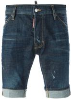 DSQUARED2 stonewashed denim shorts - men - Cotton/Spandex/Elastane - 44