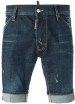 DSQUARED2 stonewashed denim shorts