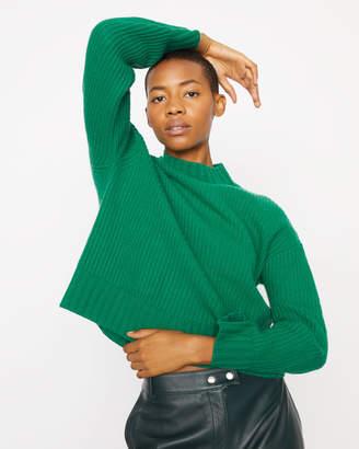 Jigsaw Wide Sleeve Ribbed Sweater