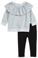 Splendid Infant Girl's Ruffle Sweatshirt & Leggings Set