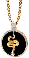 Daniela Swaebe Agate and Diamond Snake Pendant Necklace