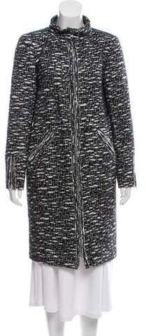 Chanel Tweed Knee-Length Coat