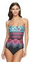 Apt. 9 Women's Paisley Bandeau One-Piece Swimsuit