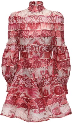 Zimmermann Printed Linen & Silk Mini Dress