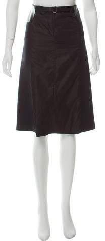 9b9b5e4196 Prada Leather Skirt - ShopStyle